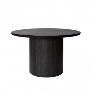 MOON table - Ø120 - Oak veneered brown/black lacquered