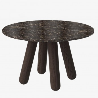 Table BALANCE - Marbre marron