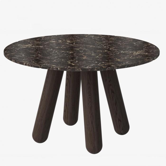 Table BALANCE - Marbre marron