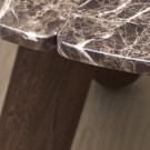 BALANCE table - Brown marble