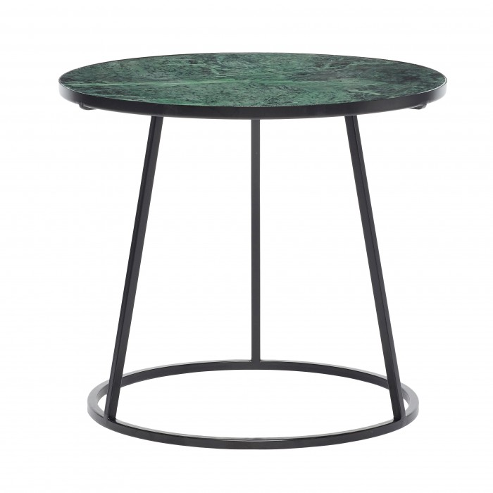 Green marble - black iron coffee table