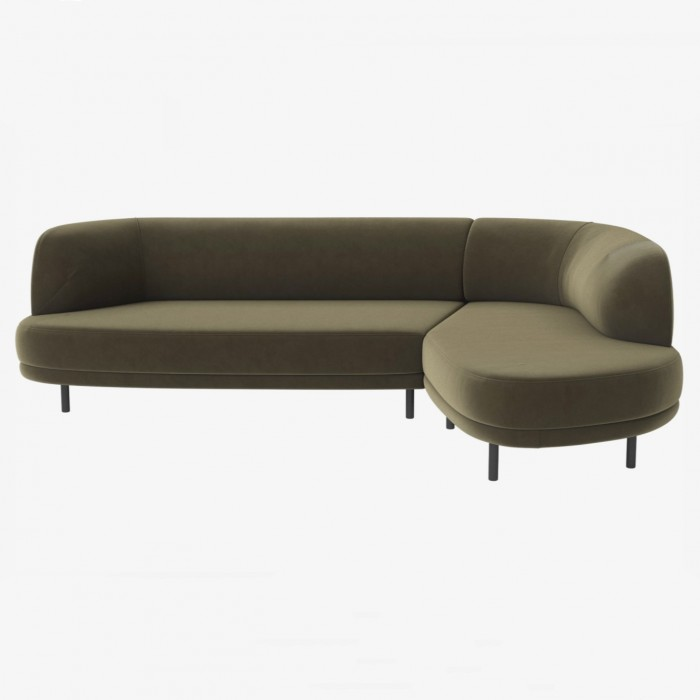 Sofa GRACE 4 places with separable system - Novel, Green