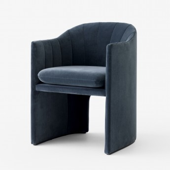 LOAFER armchair SC24 - blue velvet