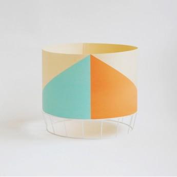 Lampe DOWOOD M vert/corail