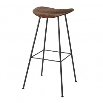 2D Bar stool - Center base - Walnut