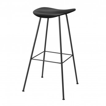 2D Bar stool - Center base - Walnut