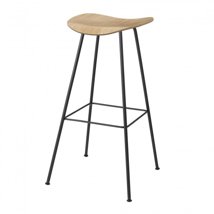 2D Bar stool - Center base - Oak
