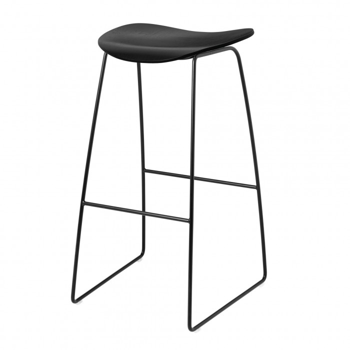 2D Bar stool - Sledge base - Birch