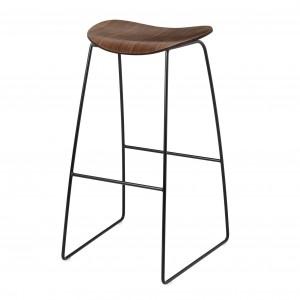 2D Bar stool - Sledge base - Walnut