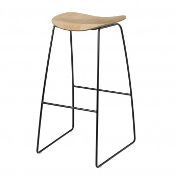 2D Bar stool - Sledge base - Oak