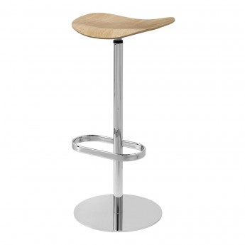 2D Bar stool - Returning swivel - Oak