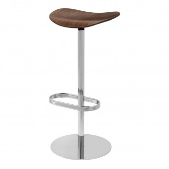 2D Bar stool - Returning swivel - Walnut
