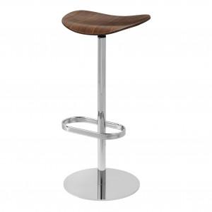 2D Bar stool - Returning swivel - Walnut