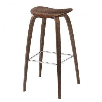Tabouret de bar 2D - Noyer