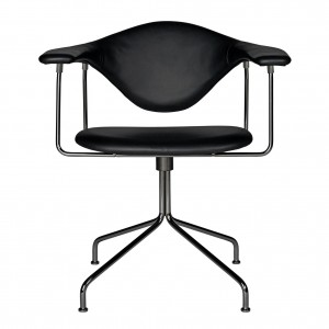 MASCULO meeting chair - Black leather