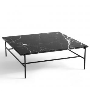 REBAR coffee table square - black marble