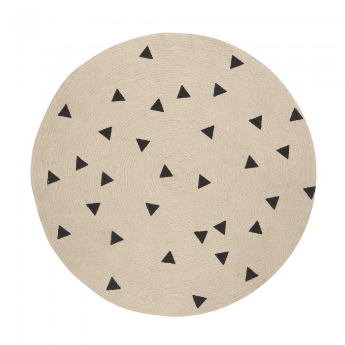 Round carpet BLACK TRIANGLES