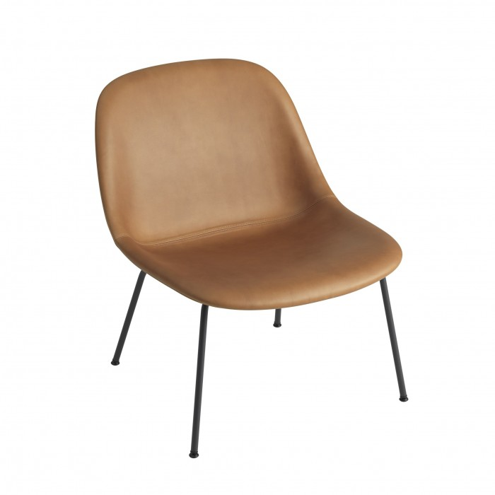 FIBER Lounge arm chair - Leather