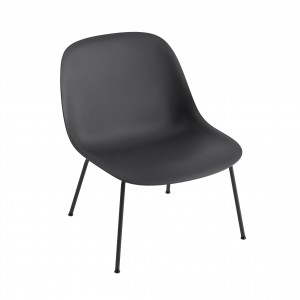 FIBER Lounge arm chair - Black