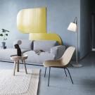 FIBER Lounge arm chair - Leather