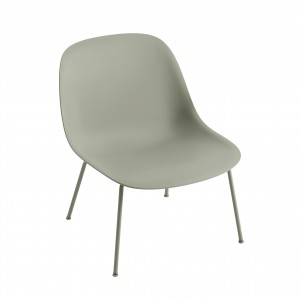FIBER Lounge arm chair - Dusty green