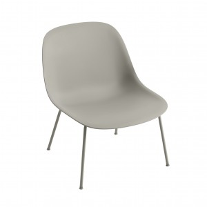 FIBER Lounge arm chair - Grey