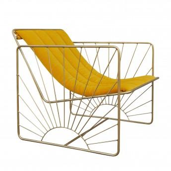 ELDORADO armchair yellow velvet