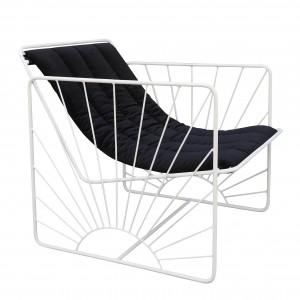 ELDORADO armchair black velvet