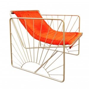 Fauteuil ELDORADO velours orange