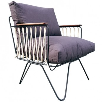 CROISETTE armchair light grey