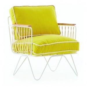 CROISETTE armchair yellow cotton