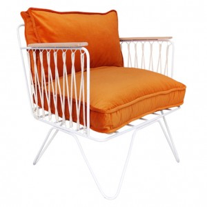 CROISETTE armchair velvet orange
