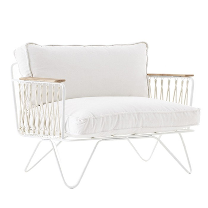 CROISETTE cotton bench White