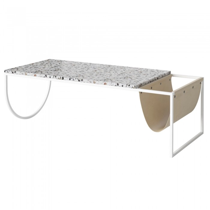 Table basse PIERO blanc