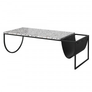 PIERO coffee table black terrazzo