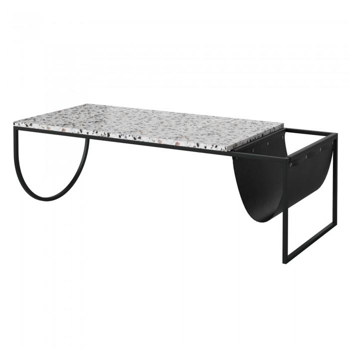 design intemporel 43acb ac5a0 PIERO side table black terrazzo - BOLIA