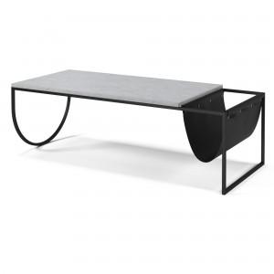 Table basse PIERO terrazzo marbre blanc