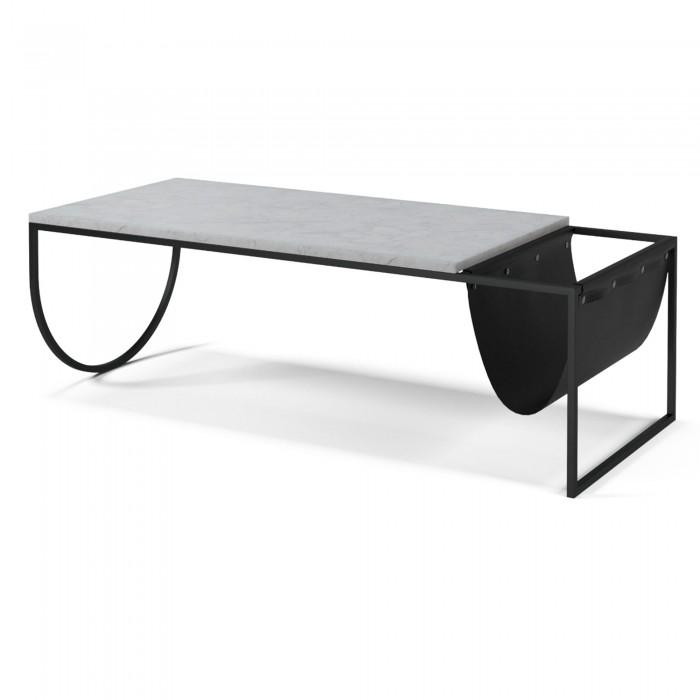 PIERO coffee table white terrazzo