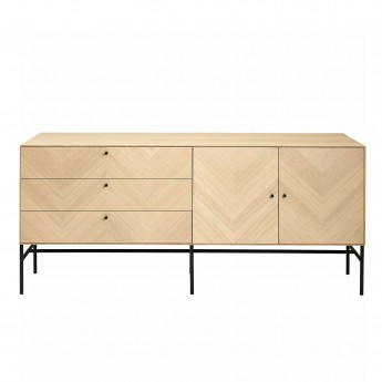 LUXE hifi oiled oak sideboard