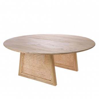Table en cannage naturel
