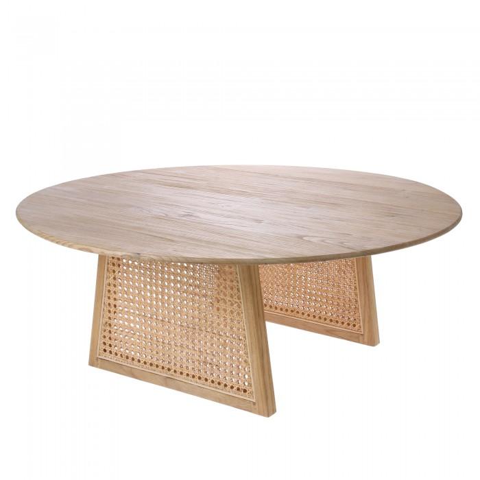 Table en cannage naturel