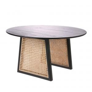 Table en cannage noir