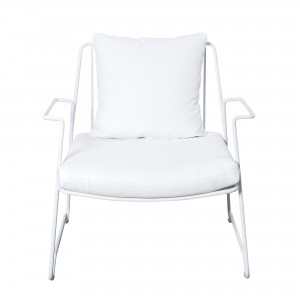 LOUNGE white armchair