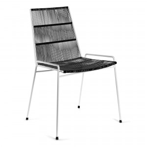 ABACO white and black chair