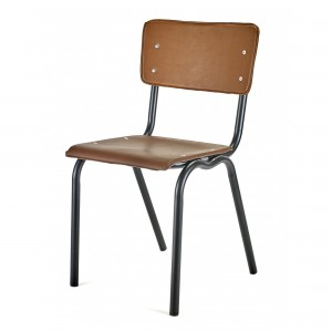 Chaise VYNIL marron