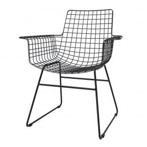 Wire armchair black