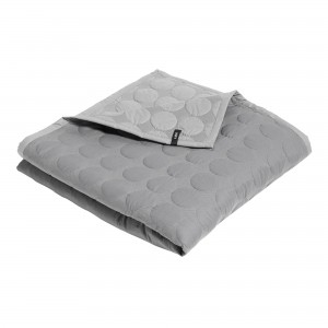 MEGA DOT light grey bedspread