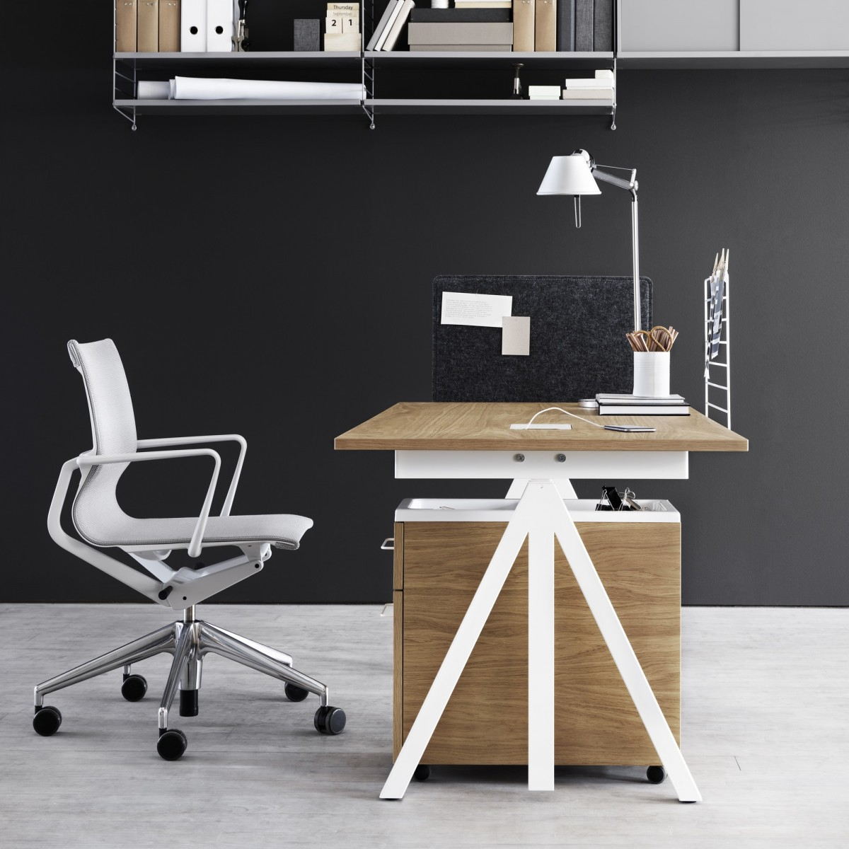 string system work desk string works. Black Bedroom Furniture Sets. Home Design Ideas