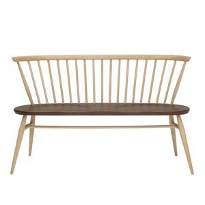 LOVESEAT bench in beech and walnut