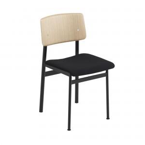 Chaise LOFT noire tapissée